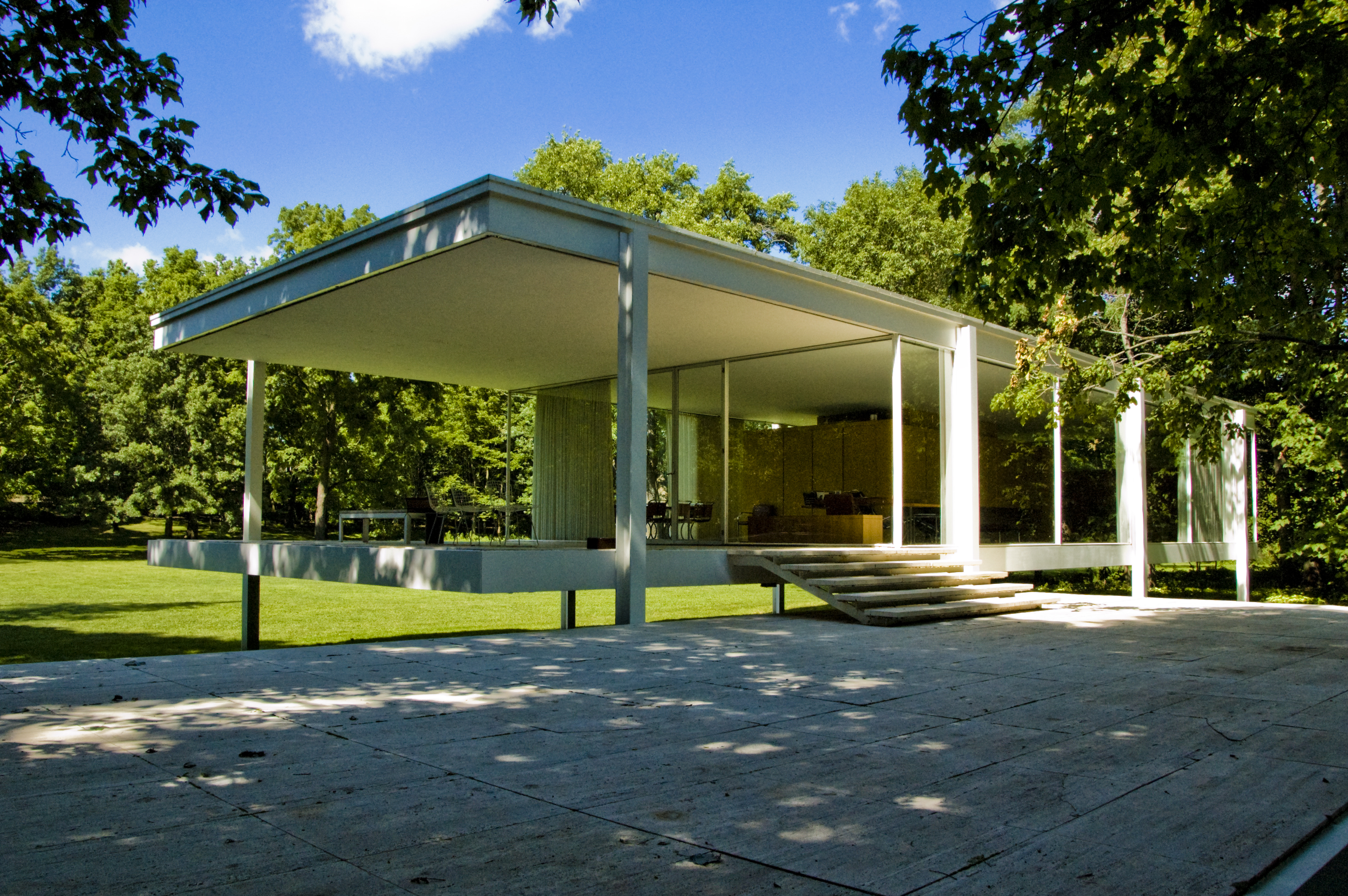 Farnsworth house by mies van der rohe exterior 8 jpg - Mies Van Der Rohe Farnsworth House December 8 2015 Nathan Lee Leave A Comment Farnsworthhouse Mies 5
